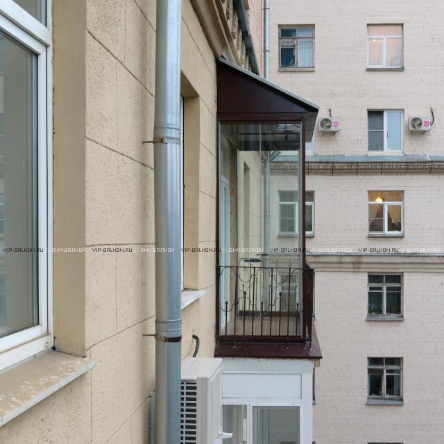 остекление балкона до пола фото