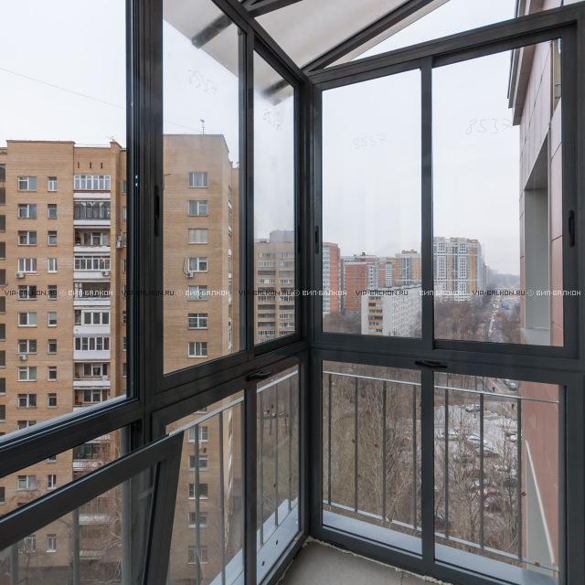 Алюминиевое остекление балкона профилем provedal.