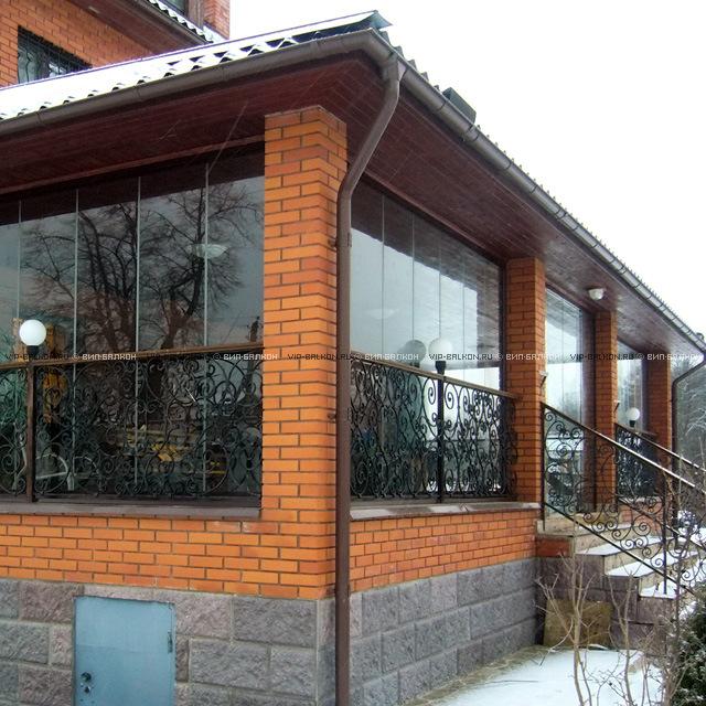Стеклянные веранды к дому фото