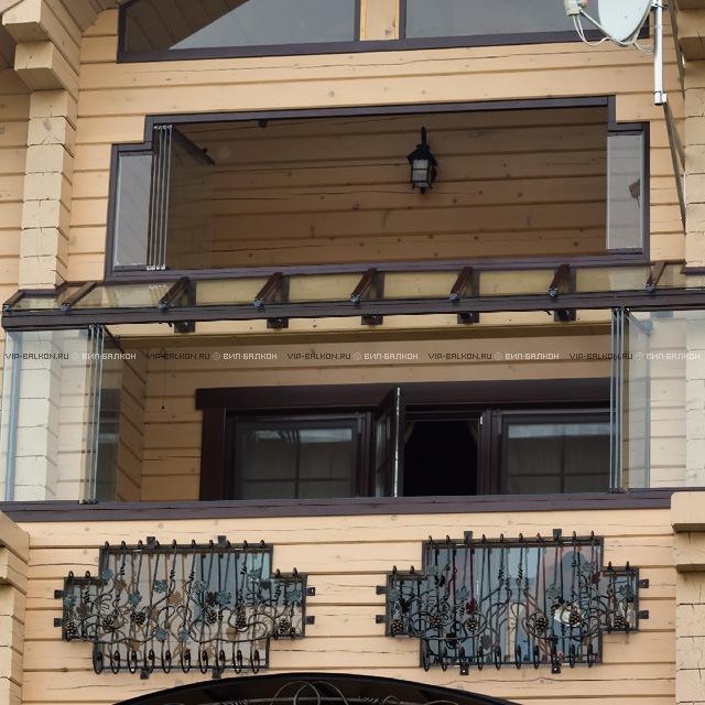 Прозрачные крыши и козырьки из стекла.