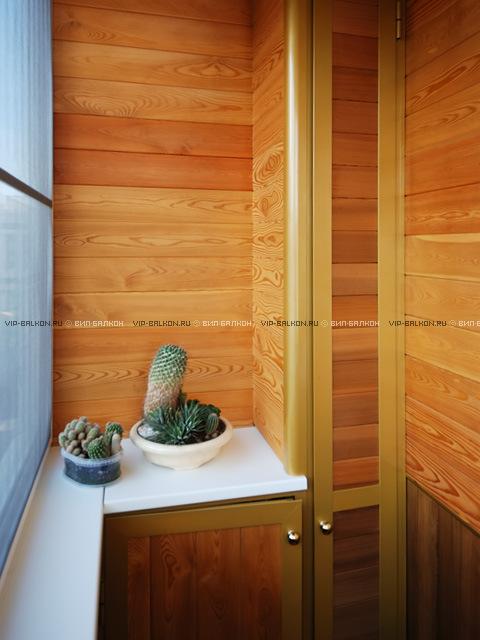 встроенный шкаф и тумбочка на балкон