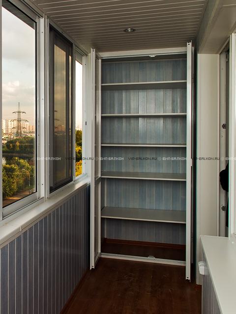 Шкафчик на балкон: угловой, встроенный, из пластика