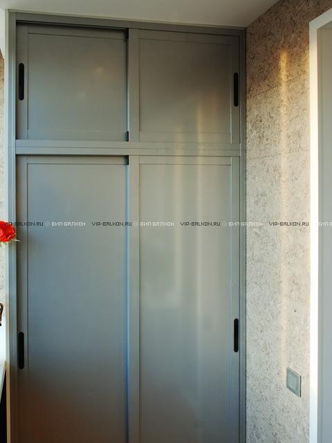 Раздвижной шкаф на балкон (вип-балкон, москва).