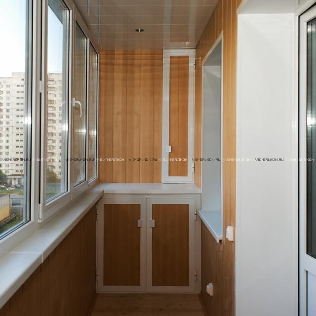 Внутренняя отделка балкона евровагонкой, панелями пвх, мдф.